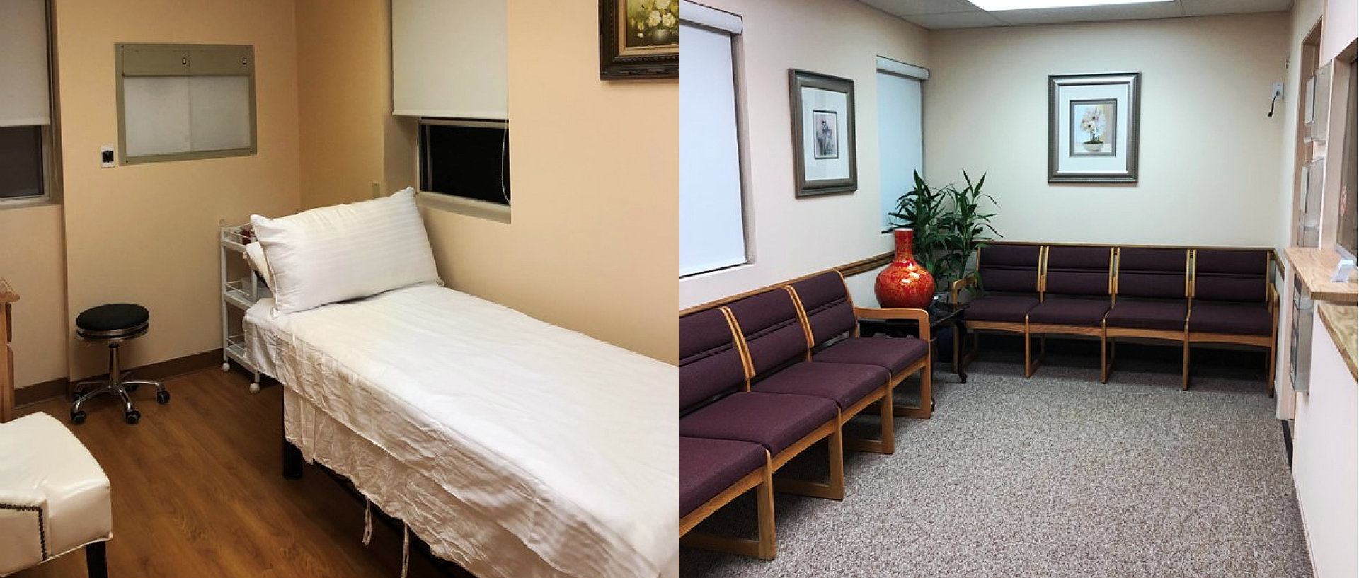 therapy room and waiting area