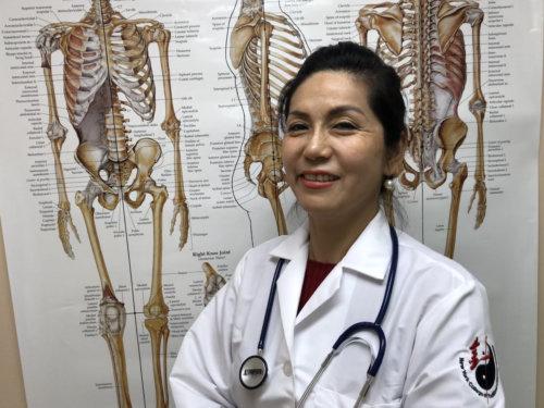 successfull nurse smiling